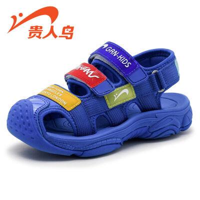 【1件2.5折后价:59元】贵人鸟男童凉鞋包头2019新款儿童鞋子韩版小孩小童软底夏季女童鞋
