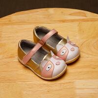 拥抱熊宝宝单鞋春秋学步鞋软底卡通婴儿鞋机能鞋软底皮鞋1-3-4岁