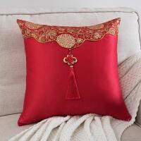 靠包包缎面抱枕明清古典沙发靠垫中式结婚喜庆床头靠枕复古大腰靠