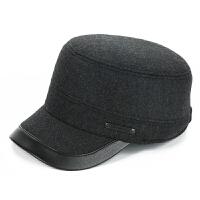 老人帽子男冬天中老年人毛呢帽老头帽秋冬保暖护耳爸爸爷爷鸭舌帽
