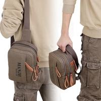 实用男士休闲包小包包男包单肩斜挎手提包运动慢跑健身帆布包