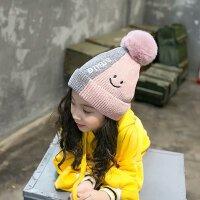 儿童帽子秋冬季1-2岁宝宝毛线帽3韩版小孩保暖帽4男女童护耳帽潮5 均码