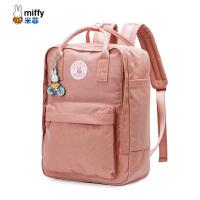 米菲2018新款双肩包韩版高中女书包学院学生校园旅行包包帆布背包