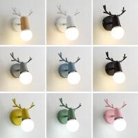 【支持礼品卡】北欧风格现代简约客厅卧室床头墙壁灯铁艺个性创意鹿头鹿角小壁灯4hp