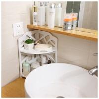 卫生间浴室台面置物架整理洗漱用品收纳架化妆品洗脸盆架浴盆角架