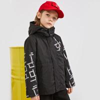 【2件5折券后预估价:479.2元】暇步士儿童冬季新款时尚保暖舒适可拆羽绒风衣中大童保暖可拆卸两用风衣