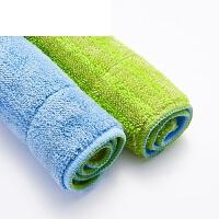 平拖夹布毛巾拖地布地板拖布头 平板拖把替换布 夹固式加厚拖把布 42*25(三片装) 三块顶六块