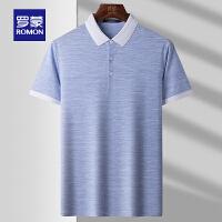 【2折预估到手价:117叠券更优惠】罗蒙男士短袖T恤衫2021夏季薄款时尚休闲POLO衫上衣