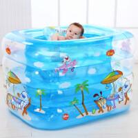 婴儿游泳池充气套装 宝宝浴缸儿童洗澡桶家用四环浴盆