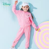 【限时抢:75】迪士尼Disney 童装男女春秋套装纯棉外出服纯色宝宝带帽卫衣套装153T639