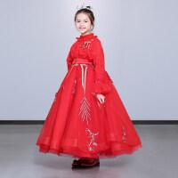 儿童礼服女公主裙蓬蓬纱冬女童钢琴演奏演出服小主持人生日晚礼服
