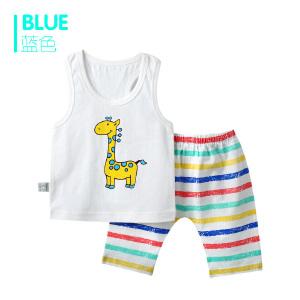 歌歌宝贝 夏季新款套装 婴儿背心短裤套装   背心印花套装