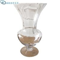 红酒杯大号透明装饰品花瓶水晶高脚餐桌棱光杯手工玻璃客厅欧式大号豪华生日礼物 棱光杯花瓶