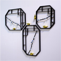 新中式墙面装饰品创意家居客厅电视背景墙饰壁挂立体铁艺壁饰挂件