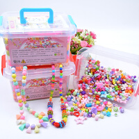 儿童宝宝穿珠子女孩手链项链饰品串珠玩具益智diy手工制作材料包