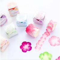 花瓣手帐贴纸素材和风日记拼贴胶带diy装饰樱花小清新和纸胶带