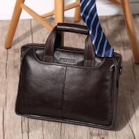 男士手提包横款真皮商务单肩包时尚新款韩版公文斜挎包潮流男包包