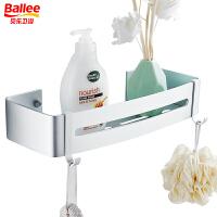 贝乐卫浴 浴室置物架 太空铝网篮带挂钩 方形TL604