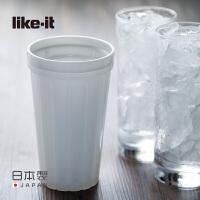 like-it日本进口制冰器碎冰杯子冰沙冰块盒冰袋冰渣模具捏碎即冰
