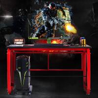 简易电脑桌台式家用电竞桌椅网吧游戏单人办公桌网咖宽大竞技沙发
