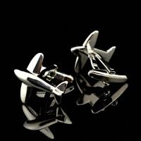 袖扣银色小飞机造型男士法式衬衫袖口扣袖钉Cufflinks/800215xx 银色
