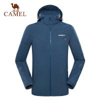 camel骆驼户外软壳衣 男防风保暖登山休闲拉链软壳衣外套