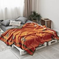 欧美轻奢双层加厚毛毯被子珊瑚绒办公沙发午睡毯子床单云毯
