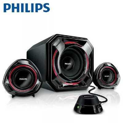 Philips/飞利浦 SPA5300/93 2.1音箱超重低音炮家用台式电脑音响 家电自营
