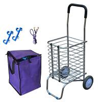 拉菜车两轮购物车买菜车可折叠便携手拉车 耐磨两轮