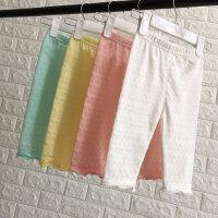 1-6岁女童打底裤薄款外穿韩版夏季宝宝柔软七分裤