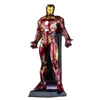 美国队长3Mark45钢铁侠蜘蛛侠摆件人偶模型玩具礼物 高约30厘米