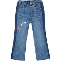 【1件4折价:63.6】moomoo童装女童裤子新年款微喇叭女中童牛仔裤