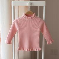 女童冬装 2-3-4-5岁中小童加绒保暖毛衣女宝宝加厚长袖打底针织衫