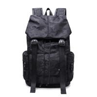 2017男士双肩包潮男背包中学生书包休闲韩版电脑包登山双肩旅行包 黑色 迷彩
