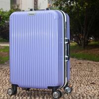 铝框拉杆箱20旅行箱潮24行李箱学生密码箱包皮箱子万向轮26寸 浅紫色铝框 20寸