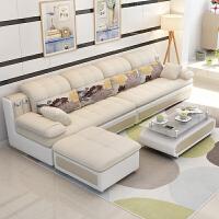 家具 小户型布艺沙发转角可拆洗三人套装沙发客厅整装组合o1l