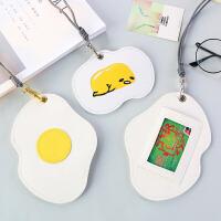 韩国立体皮质卡包可爱创意卡套女学生公交卡套男卡包零钱包带挂绳
