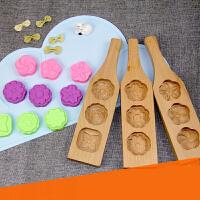 【支持礼品卡】木质馒头面点 鲤鱼 寿桃 粑粑月饼模具 绿豆糕清明果团子面食烘焙 jd2
