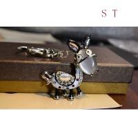 卡通水钻钥匙扣小驴汽车钥匙链 女士 包包挂件汽车钥匙挂件