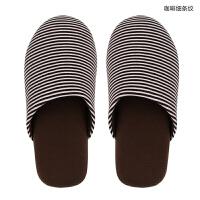 日式春秋家居拖鞋 男女室内地板无声软底静音可爱家用情侣棉拖鞋