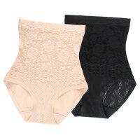 夏季女士透气收腹内裤高腰提臀塑身裤紧身产后束腰蕾丝无痕超薄款