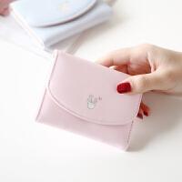 新款钱包女短款学生小清新折叠迷你时尚三折零钱包女