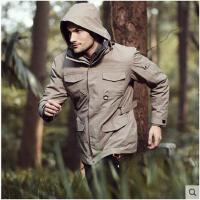 户外 疾风战术冲锋衣男三合一两件套 防水透气运动风衣