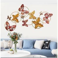 欧式复古家居装饰壁挂墙面装饰创意铁艺蝴蝶卧室装饰品挂件 120*8.5*65公分