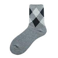 秋冬加厚男士毛巾袜子简约商务男人袜保暖舒适透气棉中筒袜男袜 均码