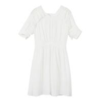 【2件1.5折价:40.4,可叠券】美特斯邦威女休闲雪纺风琴褶连衣裙