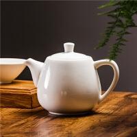 现代中式白色骨瓷茶壶陶瓷大号小号单壶花茶壶沏茶壶带过滤