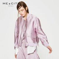 【5.16-5.17日抢购价:165】MECITY女装简约chic短款时髦拼接夹克