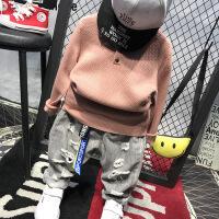 男童毛衣潮个性韩版新款男孩春秋款童装儿童针织衫男春装套装