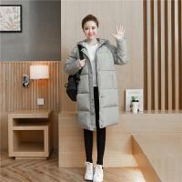韩版新款冬季棉袄外套宽松中长款棉衣女加厚面包服过膝